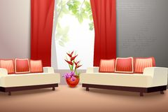 Sala de visitas do design de interiores Foto de Stock Royalty Free