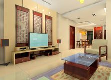 Sala de visitas do estilo de China fotos de stock royalty free