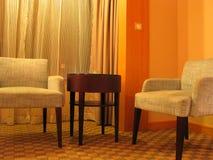 Sala de visitas do hotel fotografia de stock