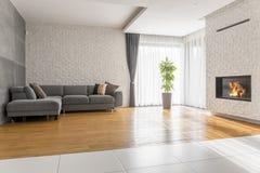 Sala de visitas extravagante com sofá imagem de stock