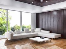 Sala de visitas interior, estilo contemporâneo ilustração royalty free