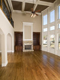 Sala de visitas luxuosa com vertical da parede do indicador foto de stock royalty free