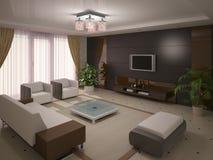 Sala de visitas luxuoso e à moda Ilustração Royalty Free