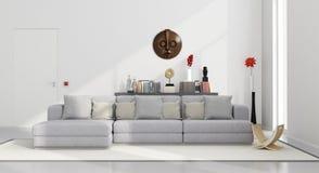 Sala de visitas minimalista branca Imagens de Stock Royalty Free