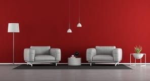 Sala de visitas minimalista com duas poltronas fotos de stock royalty free