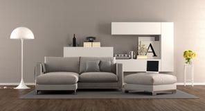 Sala de visitas moderna com sofá Imagem de Stock