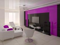 Sala de visitas moderna confortável Ilustração Royalty Free