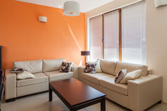 Sala de visitas moderna interior fotografia de stock royalty free
