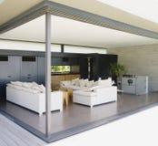 Sala de visitas moderna interior agradável fotografia de stock royalty free