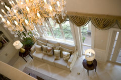 Sala de visitas moderna luxuosa fotos de stock royalty free