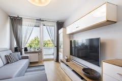 Sala de visitas no apartamento pequeno Imagens de Stock Royalty Free