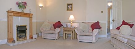Sala de visitas (panorâmico) Imagens de Stock Royalty Free