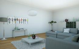 Sala de visitas skandinavian brilhante moderna do design de interiores Fotografia de Stock Royalty Free