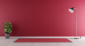 Sala de visitas vermelha Imagem de Stock Royalty Free