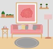 Sala de visitas Vetor Projeto liso ilustração royalty free