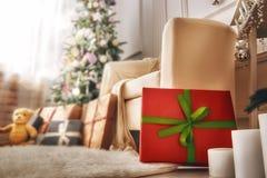 Sala decorada para o Natal Fotografia de Stock