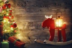 Sala decorada para o Natal Fotografia de Stock Royalty Free
