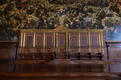 Sala dei Pregadi,在共和国总督的宫殿,威尼斯 免版税库存图片