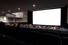 Sala del cinema con la gente. fotografie stock