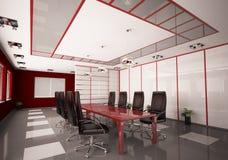 Sala del consiglio moderna 3d interno Immagini Stock Libere da Diritti