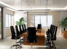 Sala del consiglio moderna dell'ufficio Immagini Stock Libere da Diritti