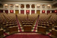 Sala del consiglio storica della duma di stato nel palazzo di Tauride a St Petersburg, Russia Immagini Stock