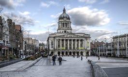 Sala del consiglio, vecchio quadrato del mercato, Nottingham immagini stock
