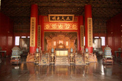 Sala dell'imperatore cinese antico immagini stock