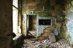 A sala destruída Imagem de Stock