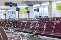 Sala di attesa al terminale di bus Fotografia Stock