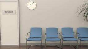 Sala di attesa all'ufficio del genetista royalty illustrazione gratis