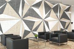 Sala di attesa dell'ufficio del modello della parete della stella Immagini Stock