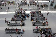 Sala di attesa nella stazione ferroviaria Fotografia Stock Libera da Diritti
