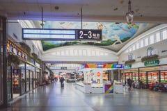 Sala di attesa nella stazione ferroviaria di Pechino Immagini Stock