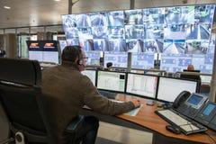 Sala di controllo Fotografia Stock Libera da Diritti