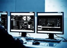 Sala di controllo Immagini Stock Libere da Diritti