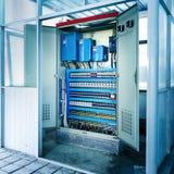 Sala di controllo del macchinario Immagine Stock