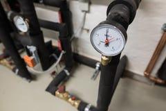 sala di controllo del riscaldamento domestico Immagine Stock