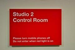 Sala di controllo dello studio 2 Fotografia Stock
