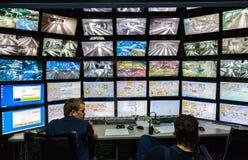 Sala di controllo di grande disposizione russa dell'attrazione È il larg fotografia stock