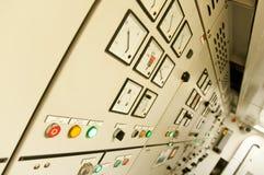 Sala di controllo di grande nave da carico extra Fotografie Stock