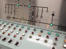 Sala di controllo di un impianto per il trattamento delle acque Immagini Stock Libere da Diritti