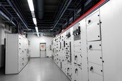 Sala di controllo di una centrale elettrica fotografia stock