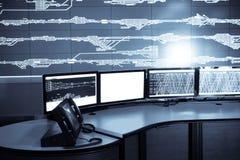 Sala di controllo ferroviaria Fotografia Stock Libera da Diritti