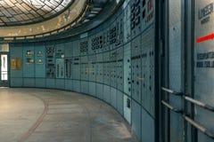 Sala di controllo illuminata Fotografie Stock