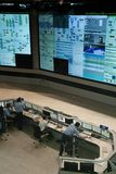 Sala di controllo su uno stabilimento chimico Fotografia Stock