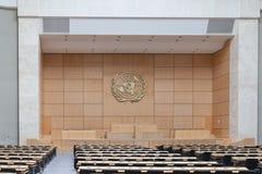 Sala di montaggio in ONU Ginevra fotografia stock libera da diritti