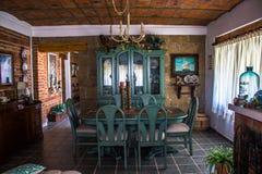 Sala dinning azul Imagens de Stock Royalty Free