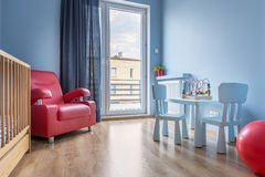 Sala do bebê com ideia do balcão fotos de stock royalty free