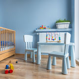 Sala do bebê no azul Imagem de Stock
